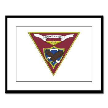 MWSG27 - A01 - 01 - USMC - Marine Wing Support Group 27 (MWSG-27) - Large Framed Print