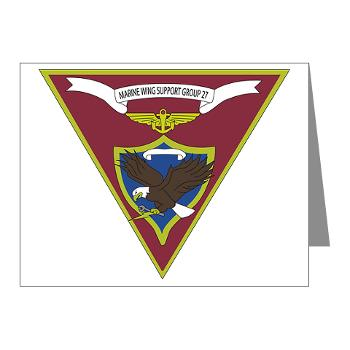 MWSG27 - A01 - 01 - USMC - Marine Wing Support Group 27 (MWSG-27) - Note Cards (Pk of 20)