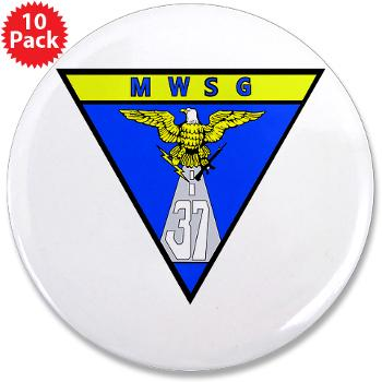 "MWSG37 - M01 - 01 - Marine Wing Support Group 37 - 3.5"" Button (10 pack)"