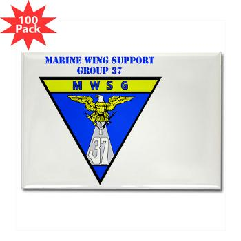 MWSG37 - M01 - 01 - Marine Wing Support Group 37 - Rectangle Magnet (100 pack)