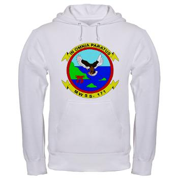 MWSS171 - A01 - 03 - Marine Wing Support Squadron 171 Hooded Sweatshirt