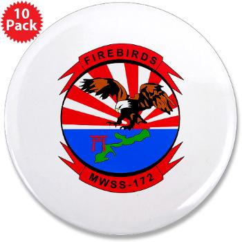 "MWSS172 - M01 - 01 - Marine Wing Support Squadron 172 3.5"" Button (10 pack)"