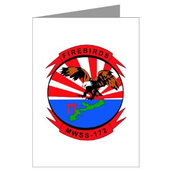 MWSS172 - M01 - 02 - Marine Wing Support Squadron 172 Greeting Cards (Pk of 10)