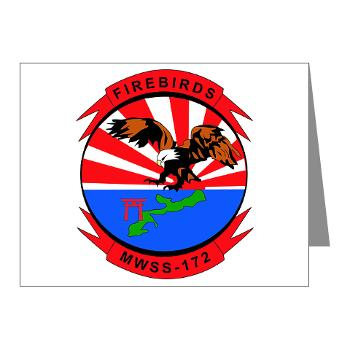MWSS172 - M01 - 02 - Marine Wing Support Squadron 172 Note Cards (Pk of 20)
