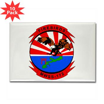 MWSS172 - M01 - 01 - Marine Wing Support Squadron 172 Rectangle Magnet (10 pack)