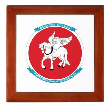 MWSS271 - M01 - 03 - Marine Wing Support Squadron 271 (MWSS 271) Keepsake Box