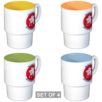 MWSS271 - M01 - 03 - Marine Wing Support Squadron 271 (MWSS 271) Stackable Mug Set (4 mugs)