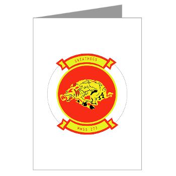 MWSS273 - M01 - 02 - Marine Wing Support Squadron 273 (MWSS 273) Greeting Cards (Pk of 20)