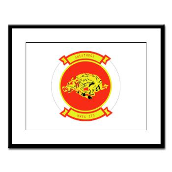 MWSS273 - M01 - 02 - Marine Wing Support Squadron 273 (MWSS 273) Large Framed Print