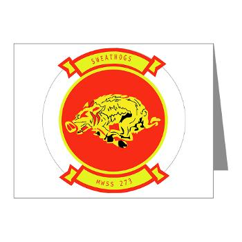 MWSS273 - M01 - 02 - Marine Wing Support Squadron 273 (MWSS 273) Note Cards (Pk of 20)
