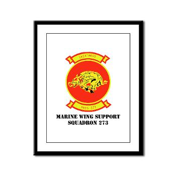 MWSS273 - M01 - 02 - Marine Wing Support Squadron 273 (MWSS 273) with text Framed Panel Print