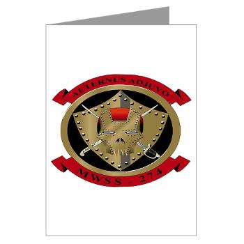 MWSS274 - M01 - 02 - Marine Wing Support Squadron 274 (MWSS 274) - Greeting Cards (Pk of 20)