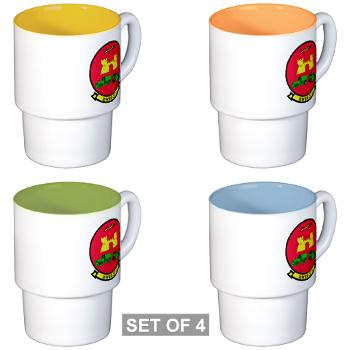 MWSS371 - M01 - 03 - Marine Wing Support Squadron 371 - Stackable Mug Set (4 mugs)