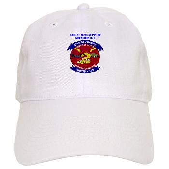 MWSS372 - A01 - 01 - Marine Wing Support Squadron 372 with Text - Cap