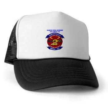 MWSS372 - A01 - 02 - Marine Wing Support Squadron 372 with Text - Trucker Hat