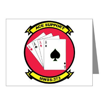 MWSS373 - M01 - 02 - Marine Wing Support Squadron 373 - Note Cards (Pk of 20)