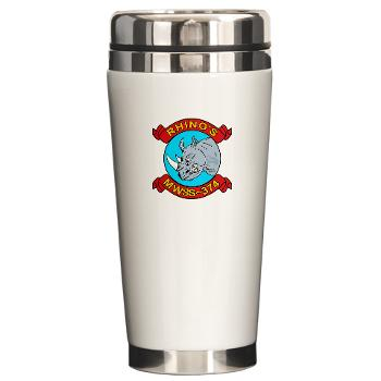 MWSS374 - M01 - 03 - Marine Wing Support Squadron 374 - Ceramic Travel Mug