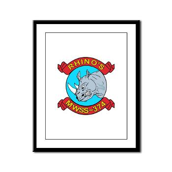 MWSS374 - M01 - 02 - Marine Wing Support Squadron 374 - Framed Panel Print