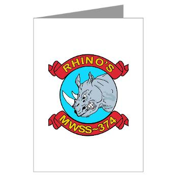 MWSS374 - M01 - 02 - Marine Wing Support Squadron 374 - Greeting Cards (Pk of 20)