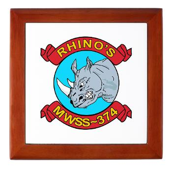 MWSS374 - M01 - 03 - Marine Wing Support Squadron 374 - Keepsake Box