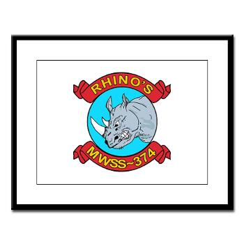 MWSS374 - M01 - 02 - Marine Wing Support Squadron 374 - Large Framed Print