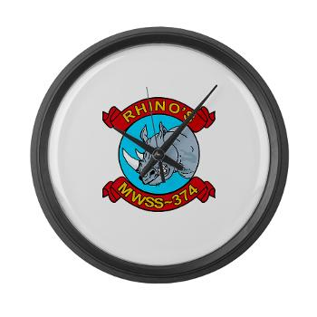 MWSS374 - M01 - 03 - Marine Wing Support Squadron 374 - Large Wall Clock