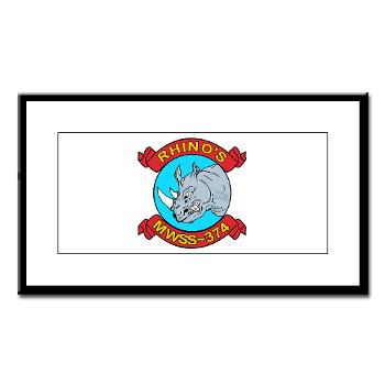 MWSS374 - M01 - 02 - Marine Wing Support Squadron 374 - Small Framed Print