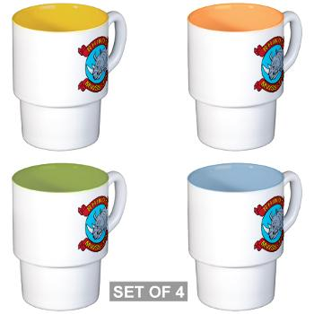MWSS374 - M01 - 03 - Marine Wing Support Squadron 374 - Stackable Mug Set (4 mugs)