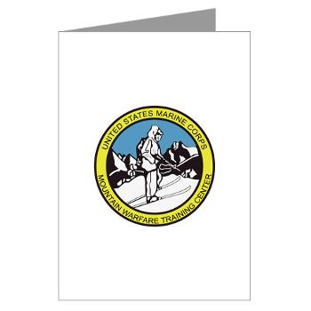 MWTC - M01 - 02 - Mountain Warfare Training Center - Greeting Cards (Pk of 20)