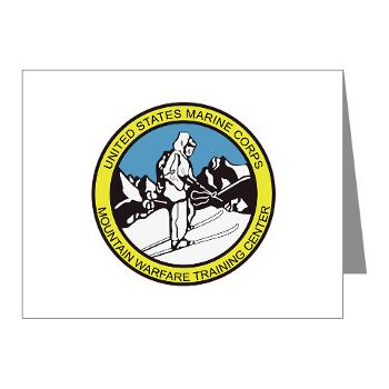 MWTC - M01 - 02 - Mountain Warfare Training Center - Note Cards (Pk of 20)