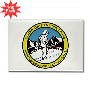 MWTC - M01 - 01 - Mountain Warfare Training Center - Rectangle Magnet (100 pack)