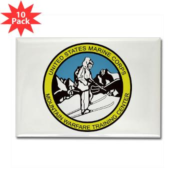 MWTC - M01 - 01 - Mountain Warfare Training Center - Rectangle Magnet (10 pack)