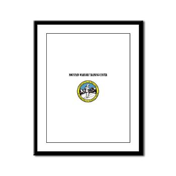 MWTC - M01 - 02 - Mountain Warfare Training Center with Text - Framed Panel Print