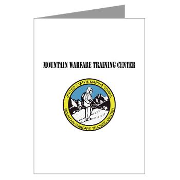 MWTC - M01 - 02 - Mountain Warfare Training Center with Text - Greeting Cards (Pk of 20)
