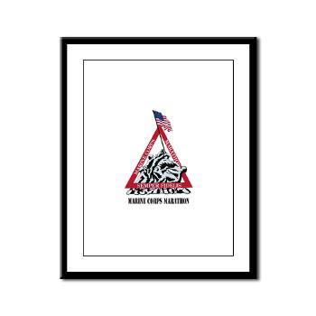 MCM - M01 - 02 - Marine Corps Marathon with Text - Framed Panel Print