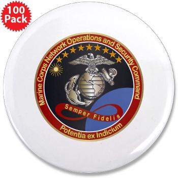 "MCNOSC - M01 - 01 - Marine Corps Network Operations Security Command - 3.5"" Button (100 pack)"
