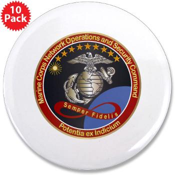 "MCNOSC - M01 - 01 - Marine Corps Network Operations Security Command - 3.5"" Button (10 pack)"