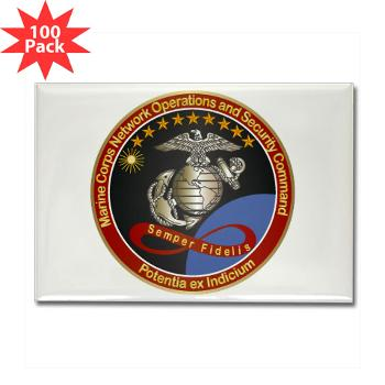 MCNOSC - M01 - 01 - Marine Corps Network Operations Security Command - Rectangle Magnet (100 pack)