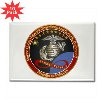 MCNOSC - M01 - 01 - Marine Corps Network Operations Security Command - Rectangle Magnet (10 pack)