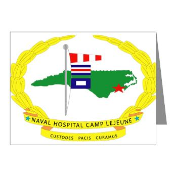 NHCL - M01 - 02 - Naval Hospital Camp Lejeune - Note Cards (Pk of 20)