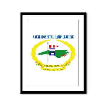 NHCL - M01 - 02 - Naval Hospital Camp Lejeune with Text - Framed Panel Print
