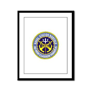 NSN - M01 - 02 - Naval Station Norfolk - Framed Panel Print