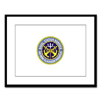 NSN - M01 - 02 - Naval Station Norfolk - Large Framed Print