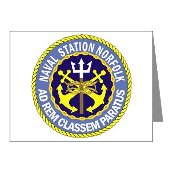 NSN - M01 - 02 - Naval Station Norfolk - Note Cards (Pk of 20)