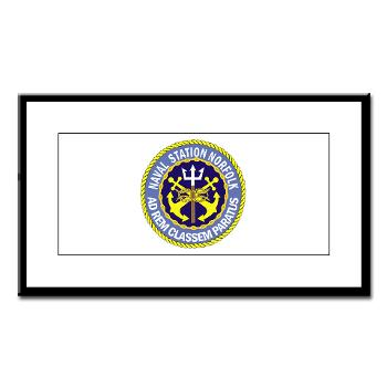 NSN - M01 - 02 - Naval Station Norfolk - Small Framed Print