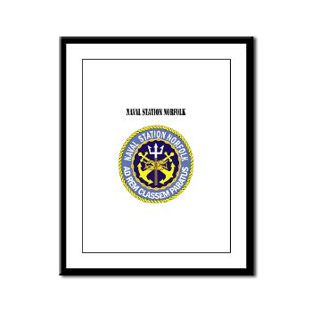 NSN - M01 - 02 - Naval Station Norfolk with Text - Framed Panel Print