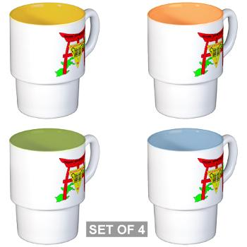 PSD18 - M01 - 03 - Personnel Support Detachment 18 Stackable Mug Set (4 mugs)