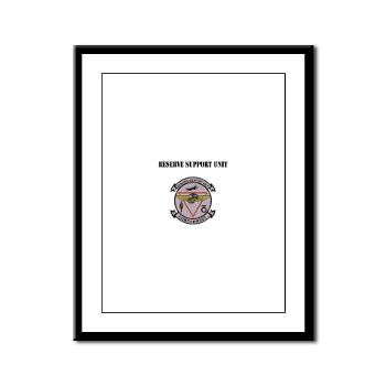 RSU - M01 - 02 - Reserve Support Unit with Text - Framed Panel Print