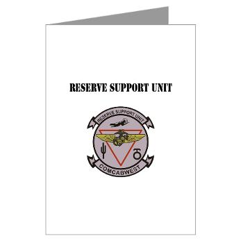 RSU - M01 - 02 - Reserve Support Unit with Text - Greeting Cards (Pk of 10)