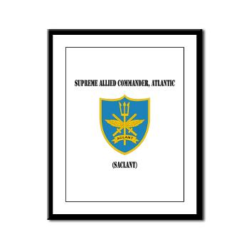 SACLANT - M01 - 02 - Supreme Allied Commander, Atlantic with Text - Framed Panel Print